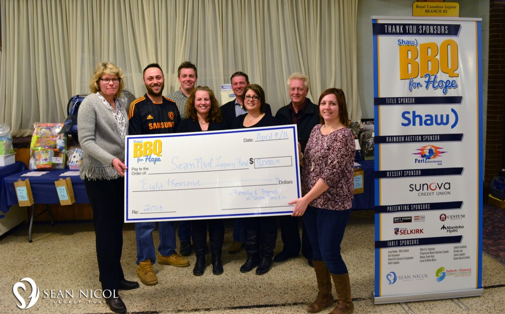 Thank You! The 2016 Shaw BBQ for Hope raised over $11,000 for the Sean Nicol Legacy Fund!
