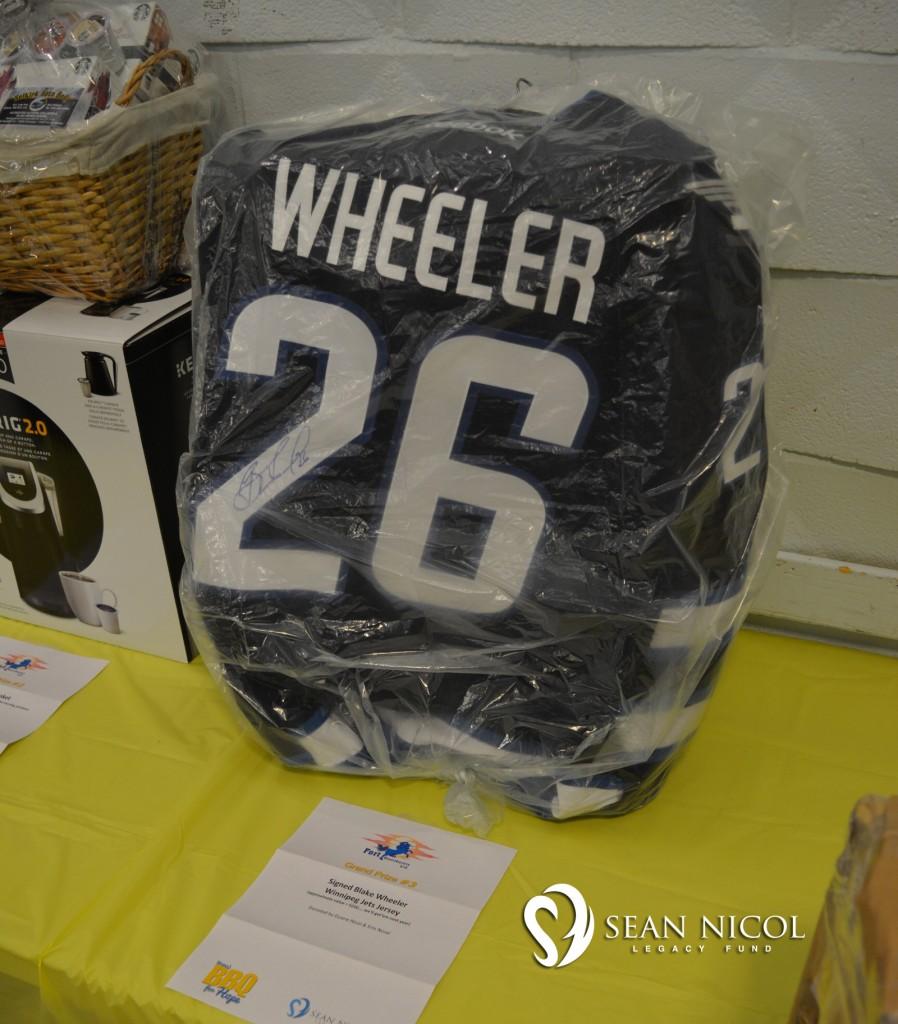 Signed Blake Wheeler Jets Jersey