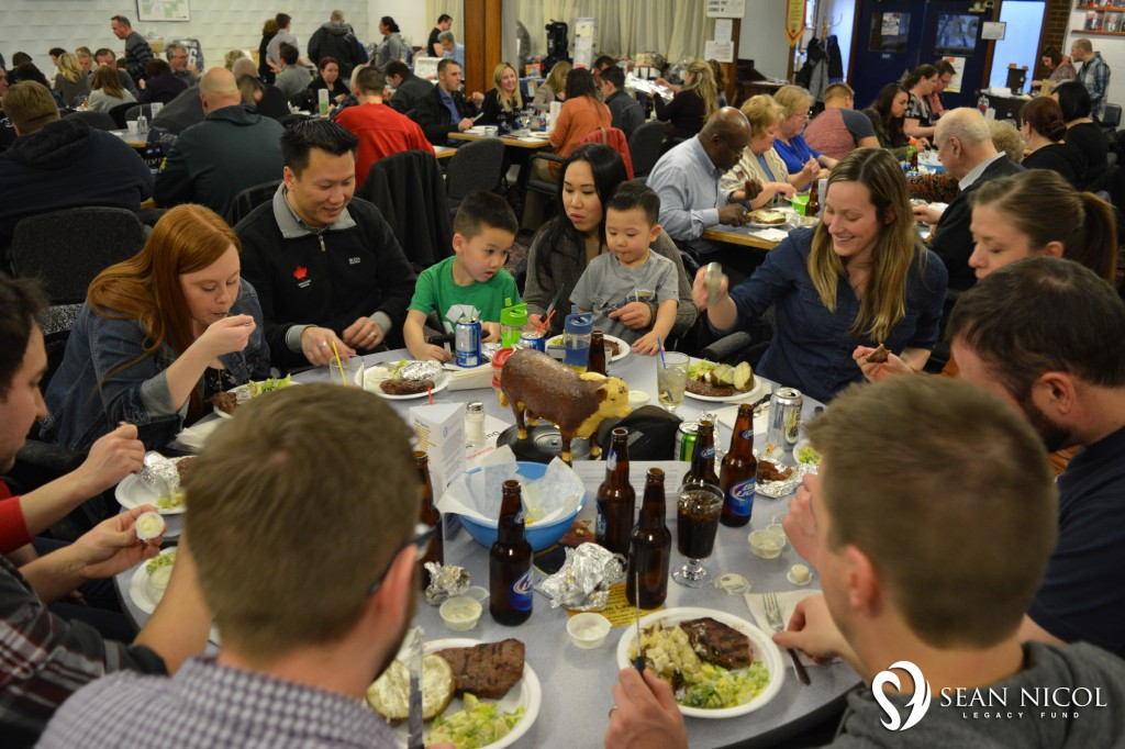 Friends enjoying the meal 2 at the 2016 Shaw BBQ for Hope